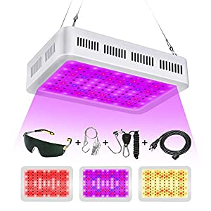 1000w LED Grow Lights, Full Spectrum led Grow Light LED Grow Light, Dual Switch & Dual Chips Full Spectrum Plant Light…