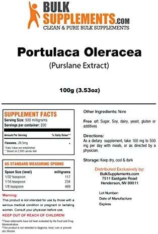 BulkSupplements Portulaca Oleracea Purslane Powder 100 Grams