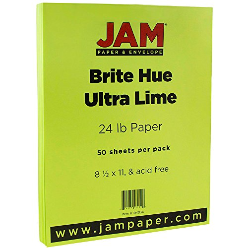 JAM PAPER Bright Color Paper - 8 1/2