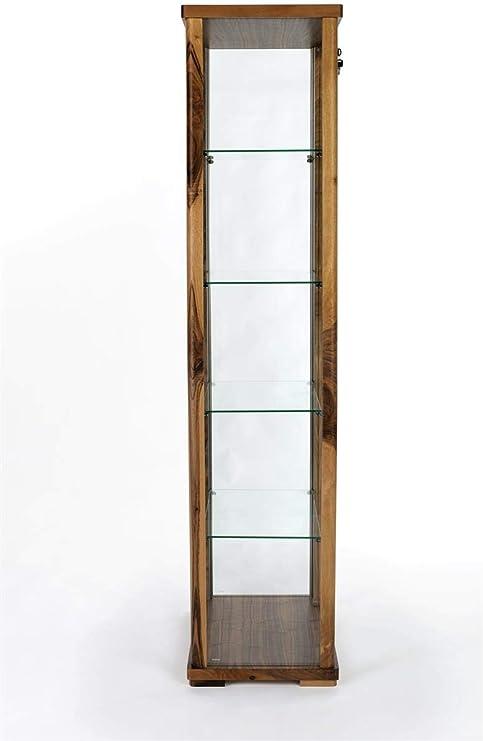 Dark Cherry Displays2go Wooden Wall Curio Cabinet DCC2128MH Countertop