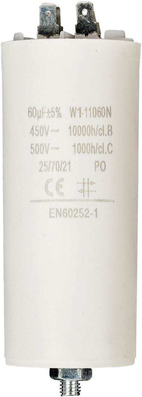 Fixapart - Condensador 3.5Uf / 450 V + Tierra: Amazon.es: Electrónica