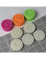Cookie Stamps Cookie Press Mooncake Mold Set, Thickness Adjustable DIY Decoration Hand Press Cutter Cake Mold