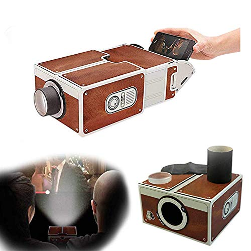 Dikley Smartphone Projector Home Theater Video Projector Portable Mini Movie Projector DIY Cardboard Mobile Phone Projector 1PCS