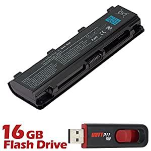 Battpit Bateria de repuesto para portátiles Toshiba Satellite L845 (4400 mah) Con memoria USB de 16GB GRATUITA