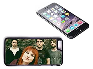 iPhone 6 Plus Black Plastic Hard Case with High Gloss Printed Insert Paramore