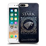 Official HBO Game of Thrones Stark Metallic Sigils Hard Back Case for Apple iPhone 7 Plus / 8 Plus