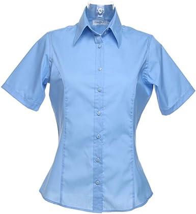 Kustom Kit - Camisa de trabajo de manga corta para mujer: Amazon.es: Ropa y accesorios
