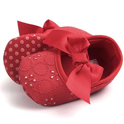 Toddler Bowknot Slip Semelle Bébé Fascigirl Anti Pour Red Chaussures Bébé À Souple Filles q6Epw6tn