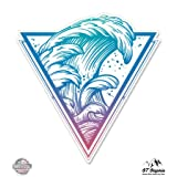 Surfers Wave - Vinyl Sticker Waterproof Decal