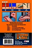 SpringTools CA198 3 Piece Woodworking Set with Nail Starter, Nail Set, Wood Chisel, Center Punch