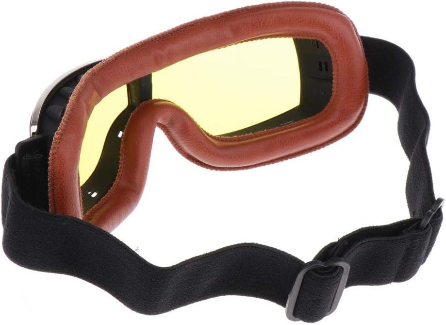 KESOTO Motocross Ski Motorrad Roller Brille Retro Helm Brille Helmbrille f/ür Erwachsene und Jugendliche