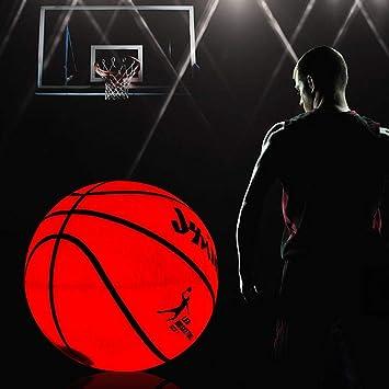 yummyfood Baloncesto Iluminado, Baloncesto De Goma LED Que ...
