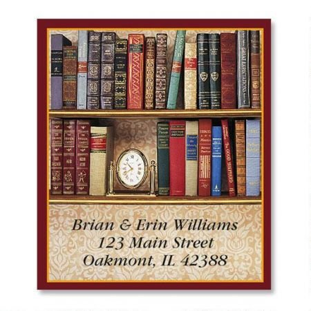Personalized Book Lovers Bookplates- Set of 144 Book Labels, 1-12