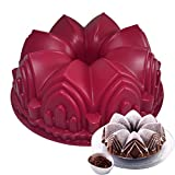 Silicone Cake Mold 3D Birthday Cake Pan Big Crown Castle Mould Decorating Tools Large Bread Fondant DIY Baking Pastry Tool By Xiaolanwelc
