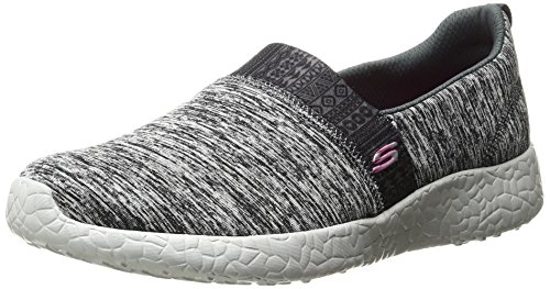 Spazzato Delle Slip on Scoppio Via Donne Sneaker Skechers Grigio Nero qTSSO4wa
