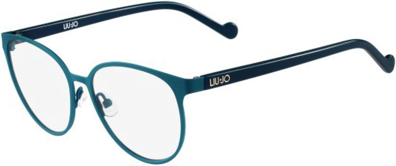 Cartas credenciales escalada Pionero  Liu Jo LJ2108 PETROLEUM 52/15/135 women eyewear frame at Amazon ...