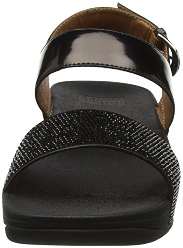 Sandalias Back Mujer para Punta Sandals Abierta Black con Fitflop Negro 1 Ritzy Strap zIqwIU5