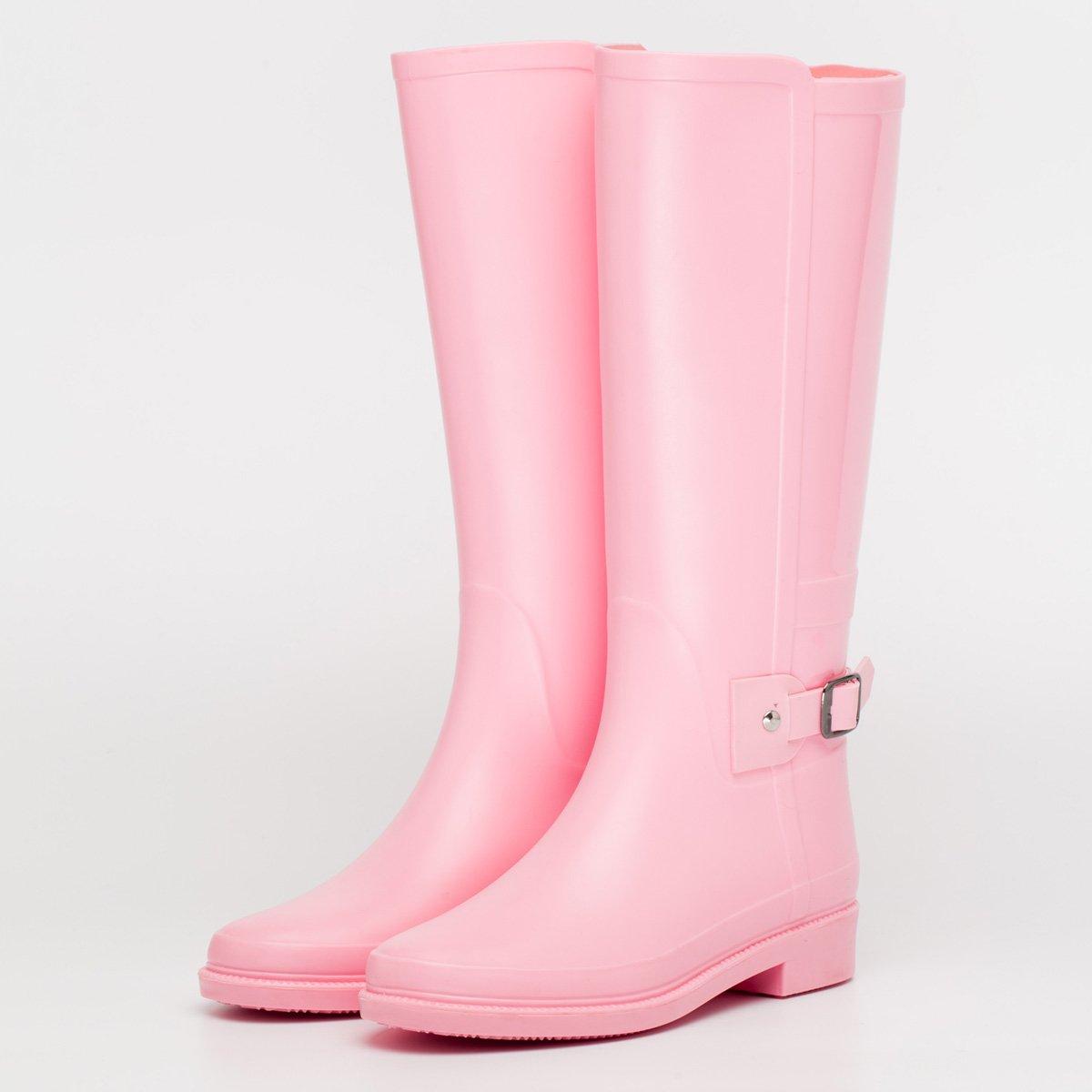 Alger otoño e invierno impermeable señora botas de lluvia, 36-a 36|A