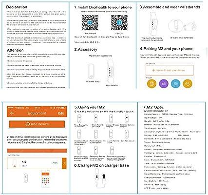 Amazon com: Fitness Tracker, Bluetooth 4 0 LiKee M2 Heart Rate
