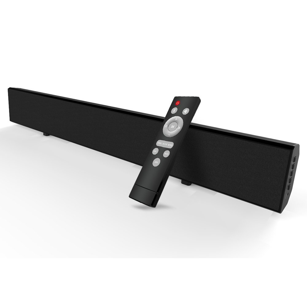Soundbar, Mighty Rock Sound Bar TV Soundbar Wired and Wireless Bluetooth Audio Speakers for TV With Optical Cable and Remote Control(Updated Version) by Mighty Rock