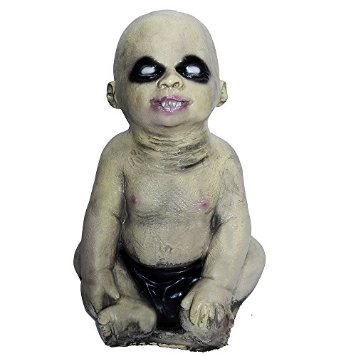 CHICHIC Halloween Decorations Evil Baby Zombie Baby Haunted Doll Halloween Toy, Latex, Clear Face, Vivid Look, Halloween Party Assessory, Halloween Props (Boy) for $<!--$35.99-->