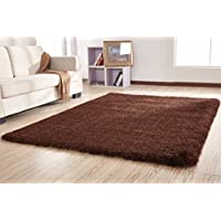 Amazing Rugs Soft Plush Chubby Collection Brown Shag Area Rug (5 x 7)