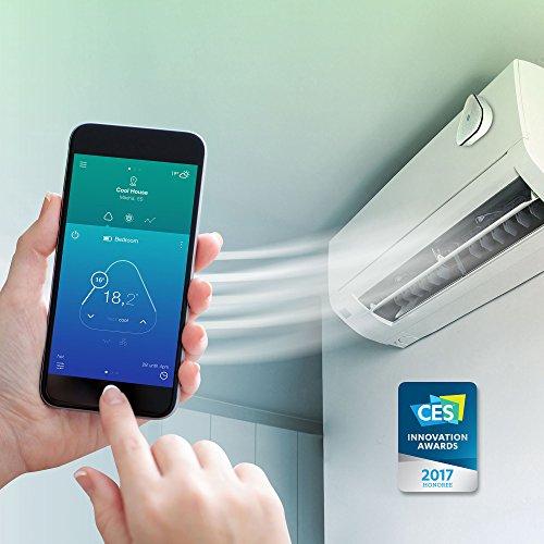 Momit Cool SKCOOLEU - Kit de inicio (Termostato + Gateway), Control del aire acondicionado con Smartphone, Compatible con A/C de mando a distanciam, ...
