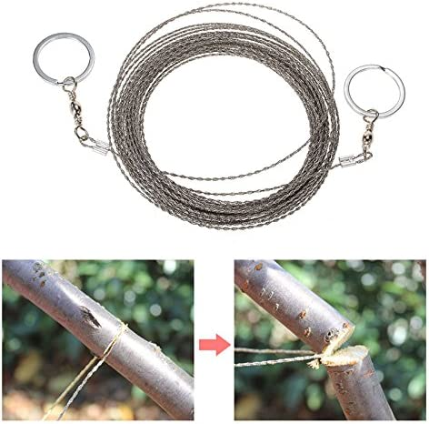 Steel Wire Saw Survival Camping Hiking Military Army Saw Chain Tool E9H7