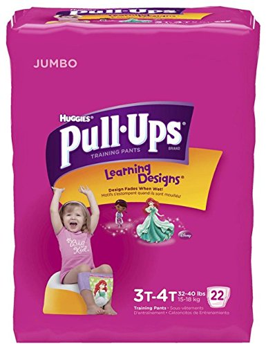 Huggies Pull-Ups Training Pants - Learning Designs - Girls - 3T-4T - 22 ct