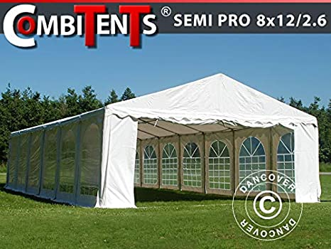 Dancover Carpa para Fiestas Carpa Eventos, Semi Pro Plus CombiTents® 8x12 (2, 6) m 4 en 1, Blanco: Amazon.es: Jardín