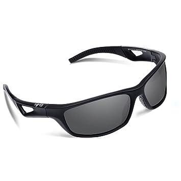 Ewin E51 Gafas de Sol de Deporte Polarizadas, TR90 Marco Irrompible, UV400 Protección,