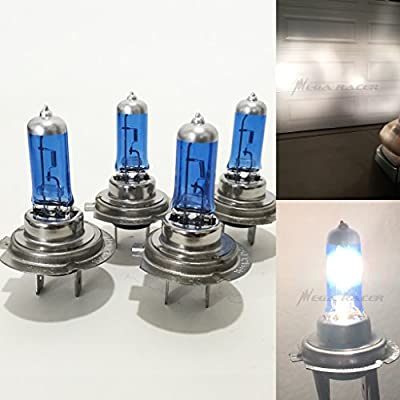 Combo 2 Pair H7 Super White 5000K Xenon Halogen Headlight Bulb High/Low Beam Hi/Lo Stock Oem Head Lamp Light US Seller