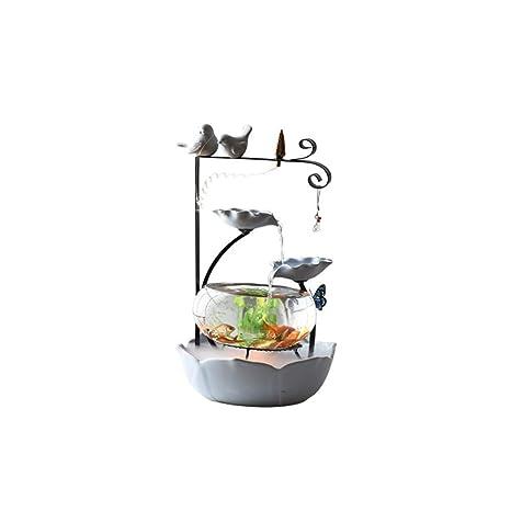 LSHUAIDJ Acuario Acuario Goldfish Tank pequeño Tanque de Peces de cerámica Creativo Pareja hogar Agua Adornos