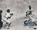 Larry Doby Indians 1St Black In Al Signed 8x10 Photo 1St At Bat Limited 47 Steiner Coa