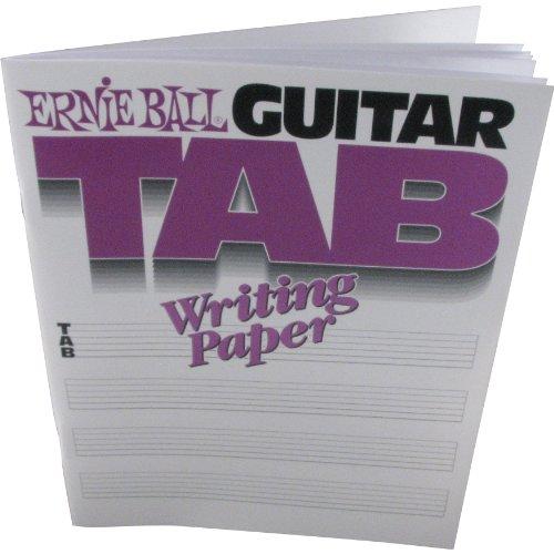 Tab Writing Paper - Ernie Ball Guitar Tab Writing Paper