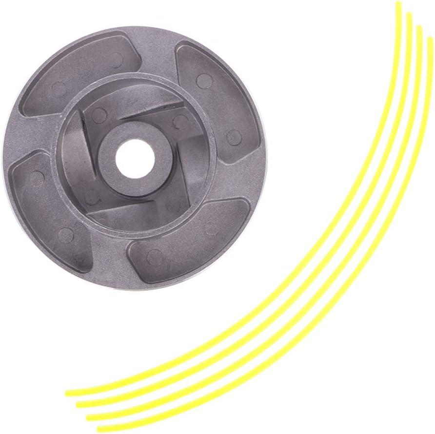 Manyo - Cabezal desbrozadora universal de aluminio para moisoniza/cortacésped/cortacésped, cabeza de hierba de cadena + 4 hilos: Amazon.es: Bricolaje y herramientas