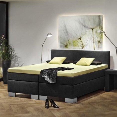 Dubai Black Boxspringbett Hotelbett Amerikanisches Bett Designbett