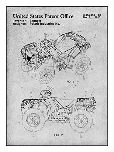 laris ATV All Terrain Vehicle Patent Print Art Poster UNFRAMED Gray 18