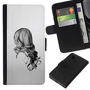 KLONGSHOP // Tirón de la caja Cartera de cuero con ranuras para tarjetas - Belleza Volver - LG Nexus 5 D820 D821 //