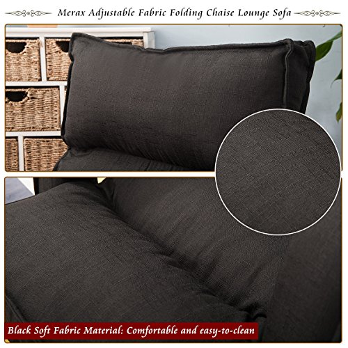 Awe Inspiring Merax Adjustable Fabric Folding Chaise Lounge Sofa Chair Cjindustries Chair Design For Home Cjindustriesco
