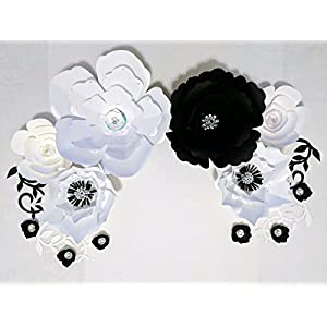 Paper Flowers for Backdrops - Includes 12 Paper Flowers and 4 Paper Branch Leaves - Fully Assembled 2
