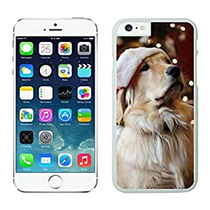 taoyix diy Recommend Design Lights With Christmas Dog White Phone Case For Iphone 6 4.7 Inch