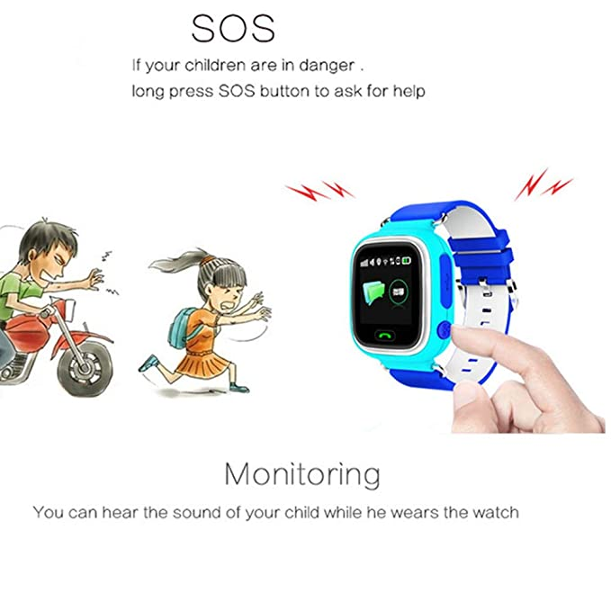 Amazon.com: Global Positioning Touch Color Screen GPS Childrens Smart Watch WiFi Children Positioning Watch (Blue): Cell Phones & Accessories