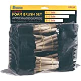Woodstock D2031 Foam Brush with Wooden Handles, 24-Piece