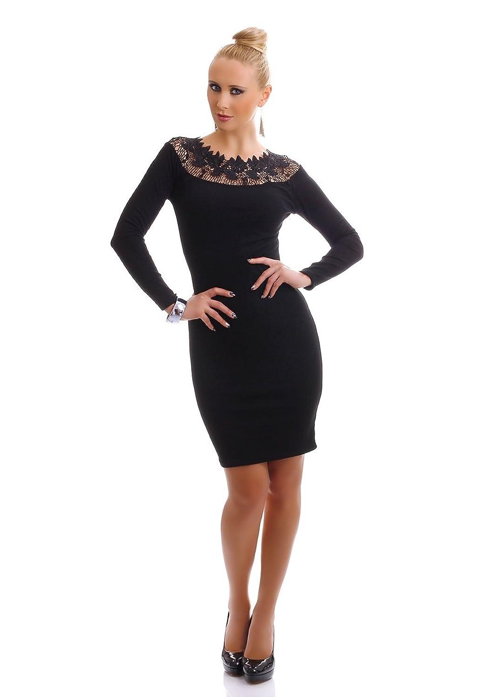 Damen langarm Kleid Minikleid Long Pullover Strick Business