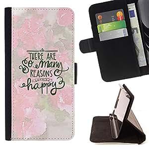 - happy inspirational motivational spring - - Prima caja de la PU billetera de cuero con ranuras para tarjetas, efectivo desmontable correa para l Funny HouseFOR Samsung Galaxy S3 III I9300