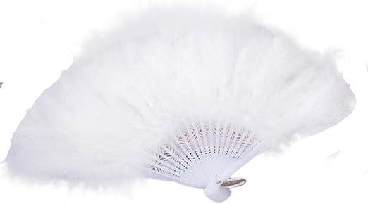 White Feather Fan Soft Wedding Burlesque Fancy Dress 1920s//30s