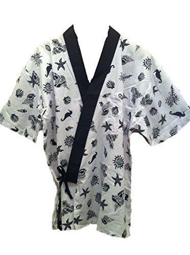 White Seashell Sushi Chef Uniform in Medium