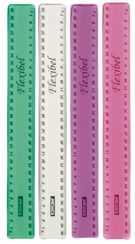 Stylex Lineal 30cm biegsam flexibel transparent klar