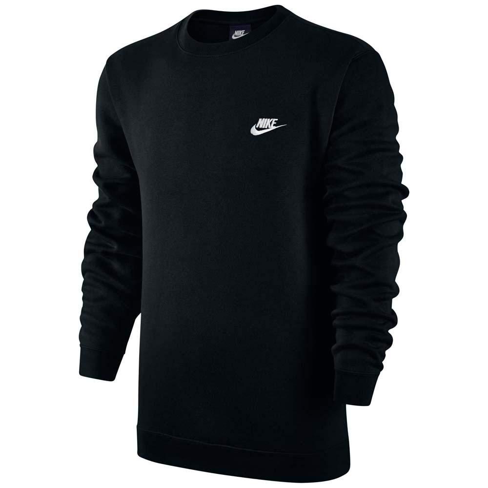 Nike Club Fleece Crew Neck Men's T-Shirt Black/White 804340-010 (Size XS)